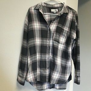 Womens High Low Flannel